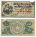 Travis County Road and Bridge Company 25 cents (twenty-five cents) scrip