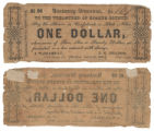 Bosque County $1.00 (one dollar) treasury warrant