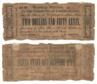 Bosque County $2.50 (two dollars and fifty cents) treasury warrant