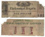 Brazoria County $1.00 (one dollar) treasury bond