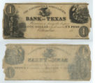 Commercial and Agricultural Bank of Texas $1.00 (one dollar) private scrip