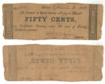 Burnet County 50 cents (fifty cents) county scrip