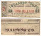 Calhoun County $2.00 (two dollars) county scrip