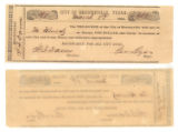 City of Brownsville $1.00 (one dollar) municipal scrip