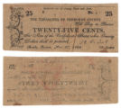 Cherokee County 25 cents (twenty-five cents) county scrip