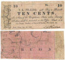 T.L. Philleo 10 cents (ten cents) private scrip