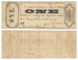 T.L. Philleo $1.00 (one dollar) private scrip