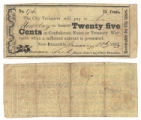 City of New Braunfels 25 cents (twenty-five cents) municipal scrip