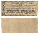 Comanche County 50 cents (fifty cents) county scrip