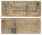 Denton County $1.00 (one dollar) treasury warrant