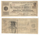 Denton County $3.00 (three dollars) treasury warrant