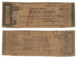 J. M. Smoot 50 cents (fifty cents) private scrip