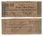 J. M. Smoot $1.00 (one dollar) private scrip