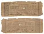DeWitt County $3.00 (three dollars) county scrip
