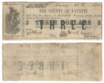 Fayette County $3.00 (three dollars) county scrip