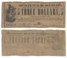 Fayette County $3.00 (three dollars) war tax scrip