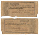 Anderson County 25 cents (twenty-five cents) county scrip
