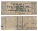 Fort Bend County 25 cents (twenty-five cents) county scrip
