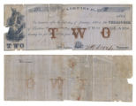 Freestone County $2.00 (two dollars) county scrip