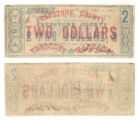 Freestone County $2.00 (two dollars) treasury warrant