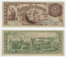 Labor Exchange 1/10 (one tenth) unknown currency