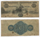 The Commercial and Agricultural Bank of Texas $100.00 (one hundred dollars) private scrip