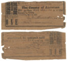 Anderson County $1.00 (one dollar) county scrip