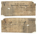Goliad County $1.00 (one dollar) treasury warrant