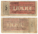 Anderson County $5.00 (five dollars) county scrip