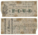 Hardin County $5.00 (five dollars) treasury warrant