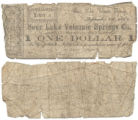 Sour Lake Volcanic Springs Co. $1.00 (one dollar) municipal scrip