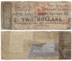 Sour Lake Volcanic Springs Co. $2.00 (two dollars) municipal scrip