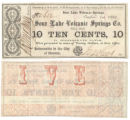 Sour Lake Volcanic Springs Co. 10 cents (ten cents) municipal scrip