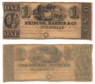 Briscoe, Harris & Co. $1.00 (one dollar) private scrip