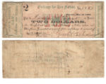 John G. Gooch $2.00 (two dollars) private scrip