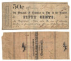 John G. Stuart 50 cents (fifty cents) private scrip