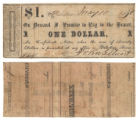 John G. Stuart $1.00 (one dollar) private scrip
