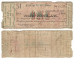John G. Gooch $1.00 (one dollar) private scrip