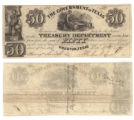 Government of Texas $50.00 (fifty dollars) treasury warrant