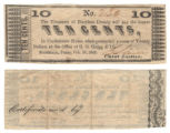 Harrison County 10 cents (ten cents) county scrip