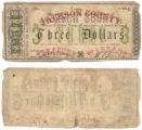 Jackson County $3.00 (three dollars) treasury warrant