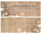 Alexander & Co. 25 cents (twenty-five cents) private scrip