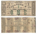Alexander & Co. $1.00 (one dollar) private scrip