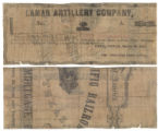 Lamar Artillery Company $1.00 (one dollar) private scrip