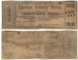 Lavaca County 25 cents (twenty-five cents) county scrip