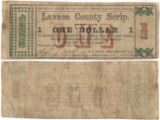Lavaca County $1.00 (one dollar) county scrip
