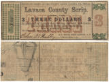 Lavaca County $3.00 (three dollars) county scrip