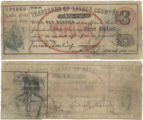 Lavaca County $3.00 (three dollars) treasury warrant