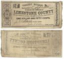 Limestone County $1.50 (one dollar and fifty cents) treasury warrant
