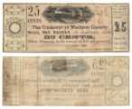 Madison County 25 cents (twenty-five cents) county scrip